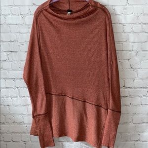 Free People Oversized Cowl Neck Shirt